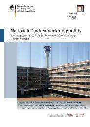 Vierter Bundeskongress Nationale Stadtentwicklungspolitik (pdf/4505