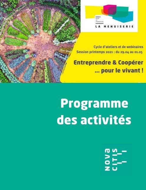 Programme-activités-la menuiserie
