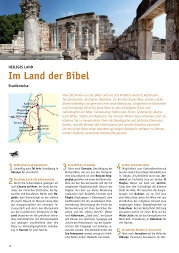 Heiliges Land 2013_Layout - Biblische Reisen