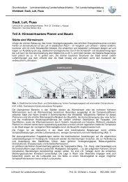 Stadt, Luft, Fluss Teil A: Klimawirksames Planen und Bauen