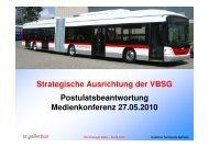 Strategische Ausrichtung der VBSG ... - Stadt St.Gallen
