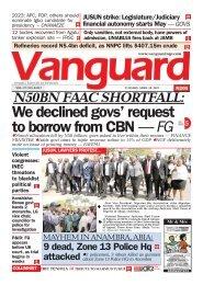 20042021 - N50BN FAAC SHORTFALL : We declined govs' request to borrow from CBN — FG