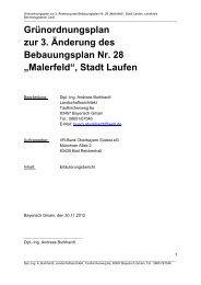 Grünordnungsplan zur 3. Änderung des ... - Stadt Laufen