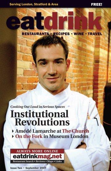 From Amédé Lamarche - eatdrink Magazine