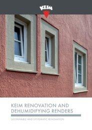 KEIM Renovation and Dehumidifying Renders
