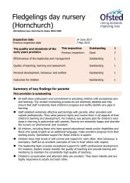 Fledgelings 2017 Ofsted Report