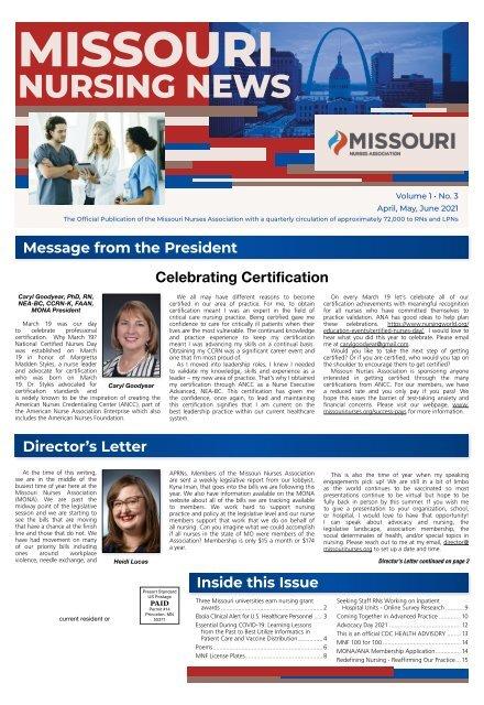 Missouri Nurse - April 2021