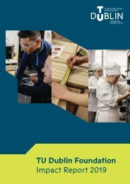 TU Dublin Foundation Donor Impact Report 2019