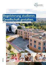 Studiengangbroschüre der Universität Witten/Herdecke