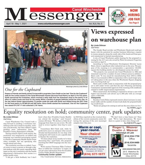 Canal Winchester Messenger - April 18th, 2021