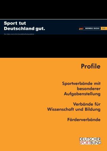 Profile - Der Deutsche Olympische Sportbund