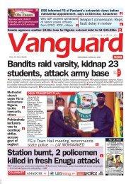 22042021 - Bandits raid varsity, kidnap 23 students, attack army base