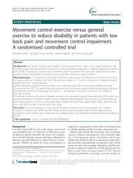 Movement control exercise versus general ... - BioMed Central