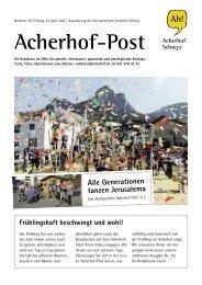 Acherhof-Post Nr. 25   23. April 2021