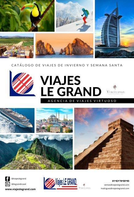 Catálogo de Viajes de Invierno y Semana Santa