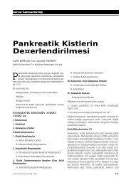Pankreatik Kistlerin De¤erlendirilmesi - Güncel Gastroenteroloji
