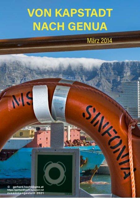 Kreuzfahrt Kapstadt - Genua 2014