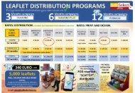RATE CARD LEAFLETS SPAIN 2021