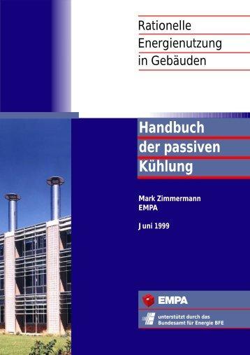 Handbuch der passiven Kühlung - Rationelle Energienutzung in ...
