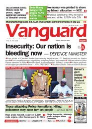 23042021 - Insecurity: Our nation is bleeding now — DEFENCE MINISTER