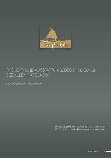 projekt- und ausstattungsbeschreibung seevillen kapelago