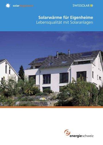 Solarwärme für Eigenheime - Bären Haustechnik AG
