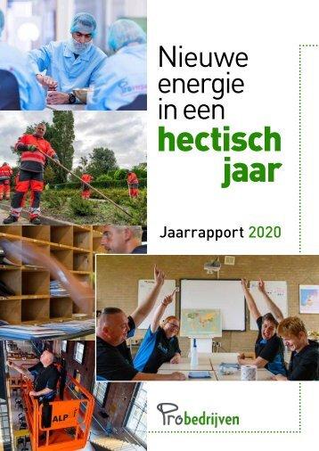 Probedrijven jaarrapport 2020
