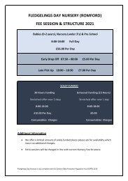 Fledgelings Fee Sheet Romford 2021 v6