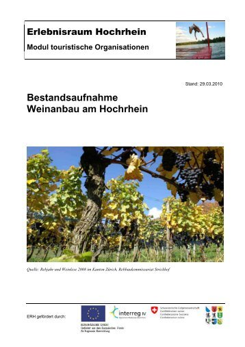 Modul touristische Organisationen - Erlebnisraum Hochrhein