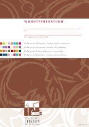 Download der Wohntypberatung (PDF, 126KB) - Schreinerei Heinlein