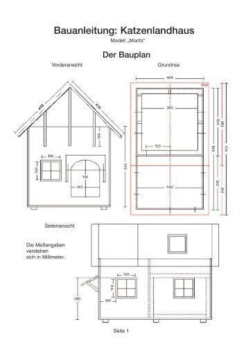 Bauanleitung: Katzenlandhaus - Geliebte Katze