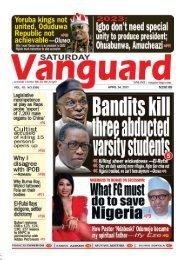 24042021 - Bandits kill three abducted varsity students