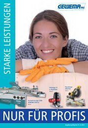 STARKE LEISTUNGEN - Gewema AG