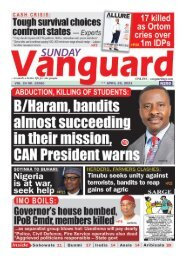 25042021 - B/Haram bandits almost succeeding in their mission CAN president warns