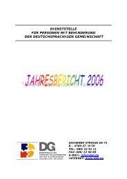 Jahresbericht 2006 - Dienststelle für Personen mit Behinderung