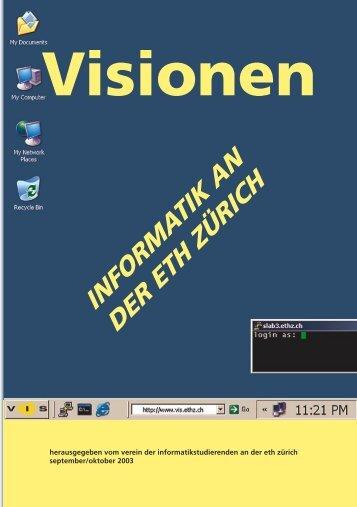 Stundenplan 1. Semester WS 03/04 - Vis - ETH Zürich