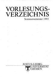 vorlesungs- verzeichnis - Gießener Elektronische Bibliothek - Justus ...