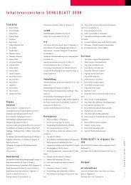 Inhaltsverzeichnis SCHULBLATT 2008 - alv