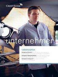 Lebenszyklus - Credit Suisse - Unternehmer Magazin - Deutschland