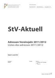 Adressen Vereinsjahr 2011/2012 Listes des adresses ... - Schw. StV