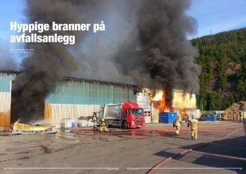 Hyppige branner på avfallsanlegg