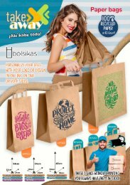 Flyer TAKE AWAY PAPER BAGS WITH HANDLE