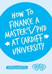 How to Finance a Master's / PhD at Cardiff University