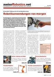 Flexibler Roboter sucht spritzige Arbeit. - swissRobotics.net