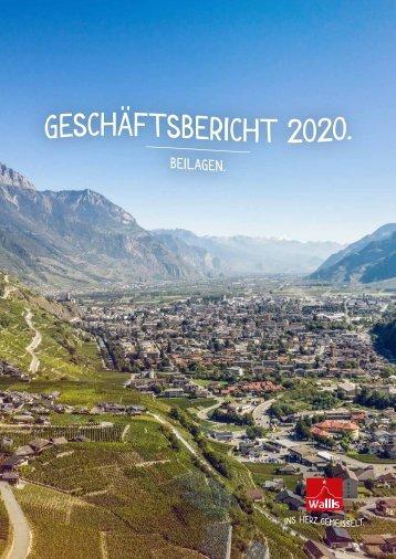 Geschäftsbericht Beilagen 2020