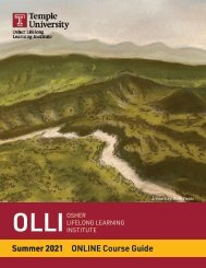 OLLI at Temple Summer 2021 Course Guide