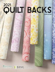 2021 Quilt Backs Catalog - Spring Edition