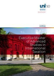 Executive Master of Advanced Studies in International Taxation