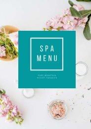 PDF Sommer Spa Menu