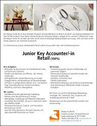 Junior Key Accounter/-in Retail (100%)